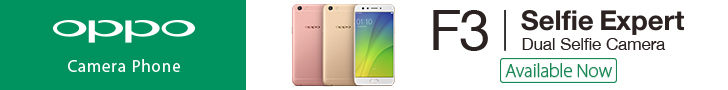 OPPO F3 Selfie Expert Dual Selfie Camera Available Now