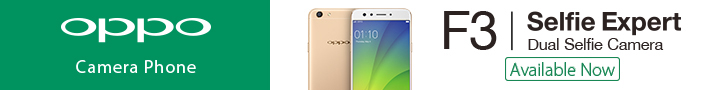 OPPO F3 Gold Edition Smartphone
